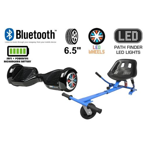 Black Bluetooth Swegway Segway Hoverboard and HK5 Blue