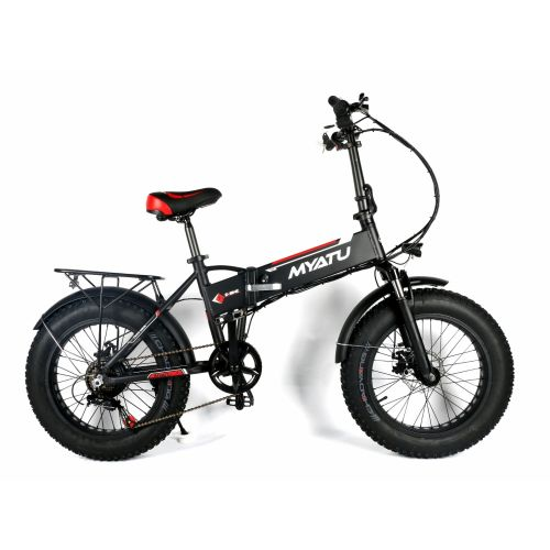 M0320F Black Fat Tyre Commuter EBike (with throttle included)