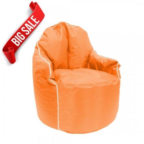 Orange Petal Bean Bag Arm Chair