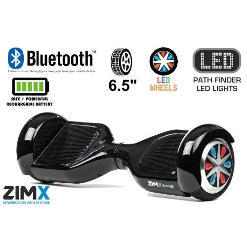 Black Hoverboard Swegway Segway Bluetooth LED Wheels