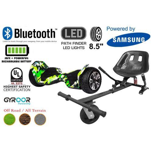Hyper Green G2 Pro Off Road Hoverboard Swegway Segway UL2272 Certified + HK5 HoverKart Black