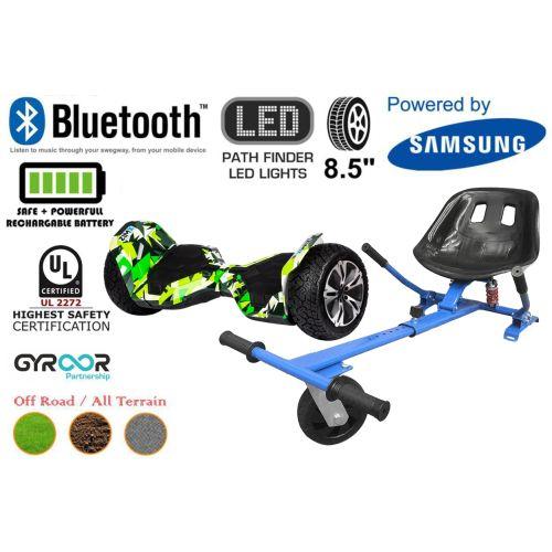 Hyper Green G2 Pro Off Road Hoverboard Swegway Segway UL2272 Certified + HK5 HoverKart Blue