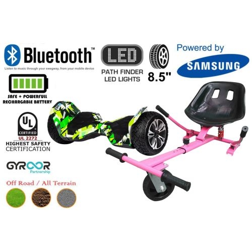Hyper Green G2 Pro Off Road Hoverboard Swegway Segway UL2272 Certified + HK5 HoverKart Pink