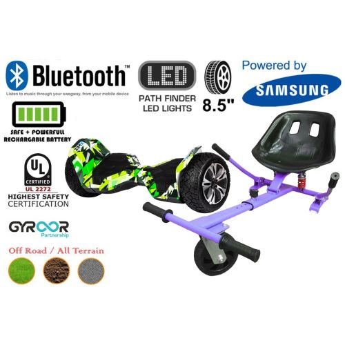 Hyper Green G2 Pro Off Road Hoverboard Swegway Segway UL2272 Certified + HK5 HoverKart Purple