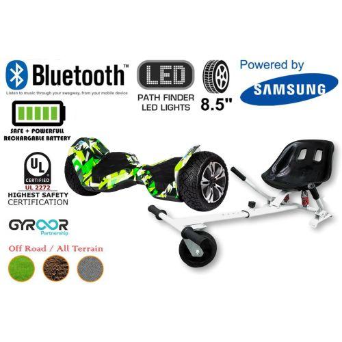 Hyper Green G2 Pro Off Road Hoverboard Swegway Segway UL2272 Certified + HK5 HoverKart White