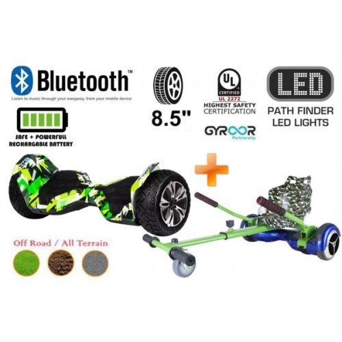 Hyper Green G2 Pro Off Road Hoverboard Swegway Segway UL2272 Certified + HK4 Green