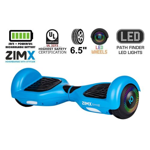 Blue Hoverboard Segway with LED Wheels UL2272 Certified