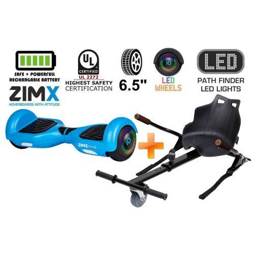 Blue Hoverboard Swegway Segway with LED Wheels UL2272 Certified + HK4 Black