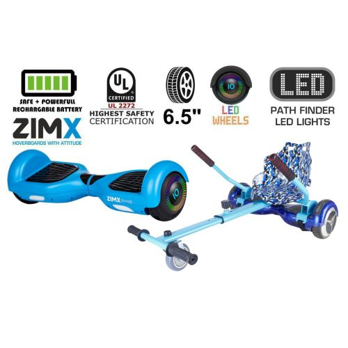 Blue Hoverboard Swegway Segway with LED Wheels UL2272 Certified + HK4 Camo Blue