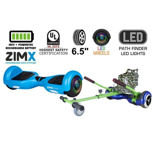 Blue Hoverboard Swegway Segway with LED Wheels UL2272 Certified + HK4 Camo Green