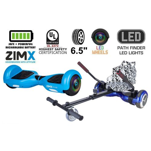 Blue Hoverboard Swegway Segway with LED Wheels UL2272 Certified + HK4 Camo Grey
