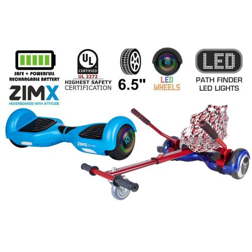 Blue Hoverboard Swegway Segway with LED Wheels UL2272 Certified + HK4 Camo Red