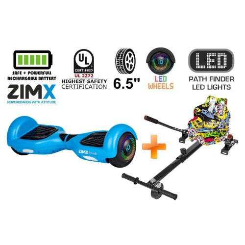 Blue Hoverboard Swegway Segway with LED Wheels UL2272 Certified + HK4 Yell