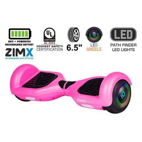 Pink Hoverboard Segway with LED Wheels UL2272 Certified