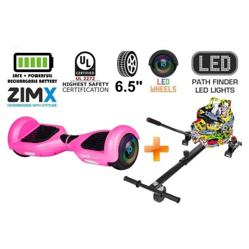 Pink Hoverboard Swegway Segway with LED Wheels UL2272 Certified + HK4 Yell