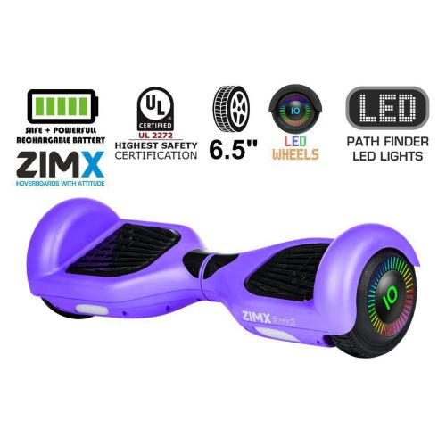 Purple Hoverboard Segway with LED Wheels UL2272 Certified