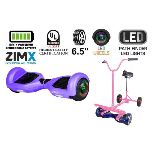 Purple Hoverboard Swegway Segway with LED Wheels UL2272 Certified + HoverBike Pink