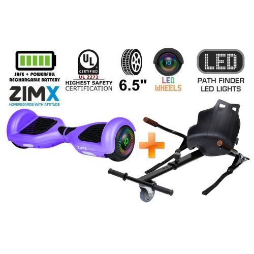 Purple Hoverboard Swegway Segway with LED Wheels UL2272 Certified + HK4 Black