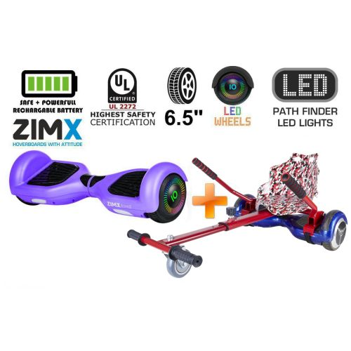 Purple Hoverboard Swegway Segway with LED Wheels UL2272 Certified + HK4 Camo Red