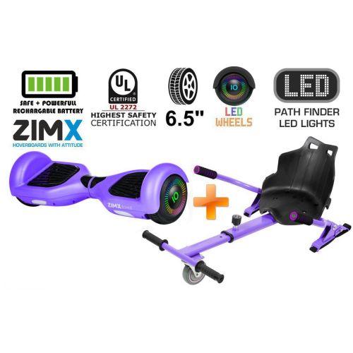 Purple Hoverboard Swegway Segway with LED Wheels UL2272 Certified + HK4 Purple