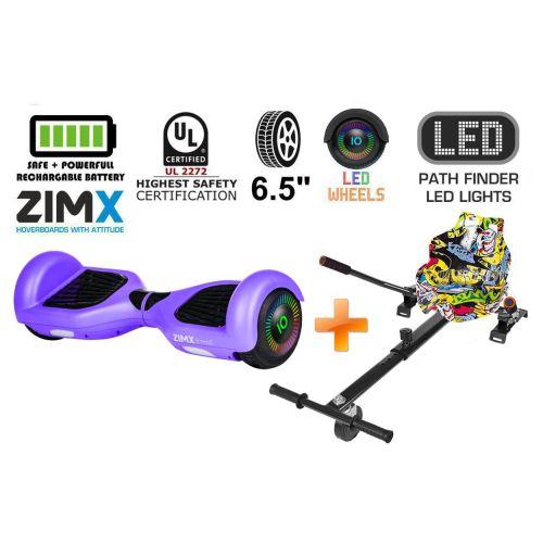 Purple Hoverboard Swegway Segway with LED Wheels UL2272 Certified + HK4 Yell Graffiti
