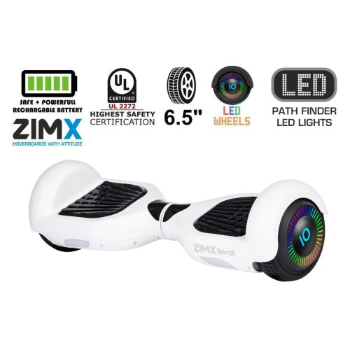 White Hoverboard Segway with LED Wheels Certified UL2272