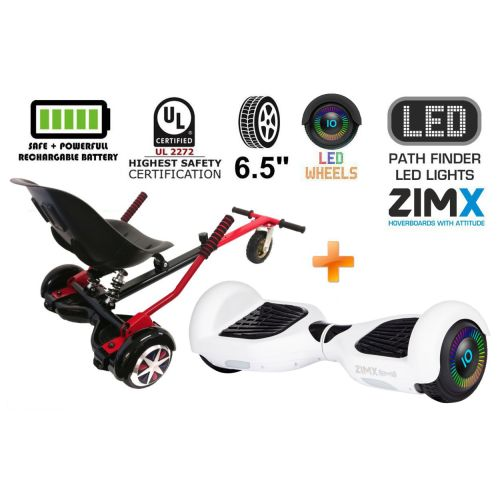 White Hoverboard Swegway Segway with LED Wheels UL2272 Certified + HK5