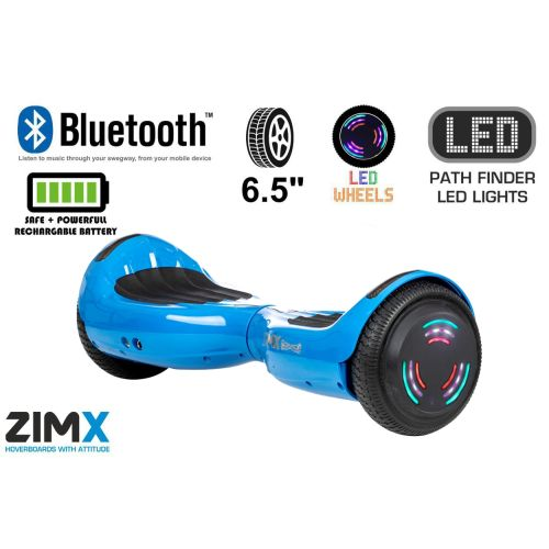 Blue Hoverboard Swegway Segway Bluetooth and LED Wheels UL2272 Certified