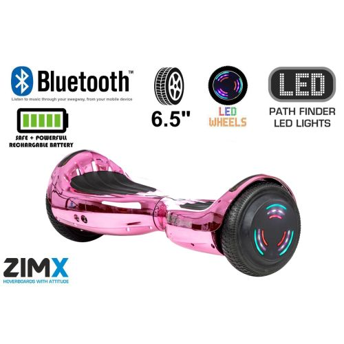 Pink Chrome Hoverboard Swegway Segway Bluetooth and LED Wheels UL2272 Certified