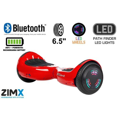 Red Hoverboard Swegway Segway Bluetooth and LED Wheels UL2272 Certified