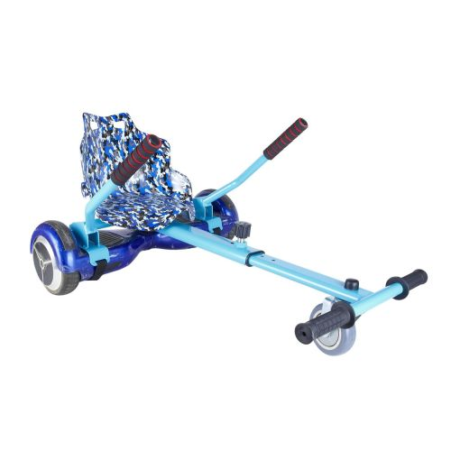 Blue Camo Seat Racer Hoverkart With Front Wheel Steer