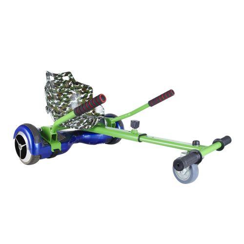 Green Camo Seat Racer Hoverkart With Front Wheel Steer