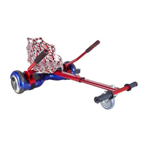 Red Camo Seat Racer Hoverkart With Front Wheel Steer