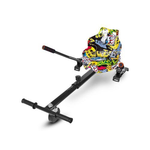 Graffiti Seat Racer Hoverkart With Front Wheel Steer