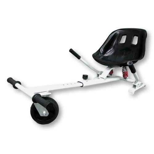 White HoverKart HK5 - With Suspension and Off-Road Front Wheel Steer