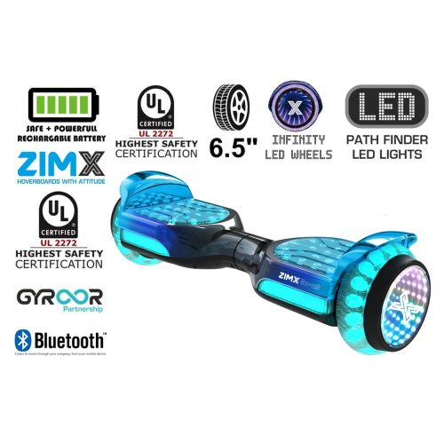 Grey Blend Self Balancing Scooter Hoverboard Swegway with Bluetooth and INFINITY LED Tyres & Wheels + LED Foot Pads UL2272 Certified