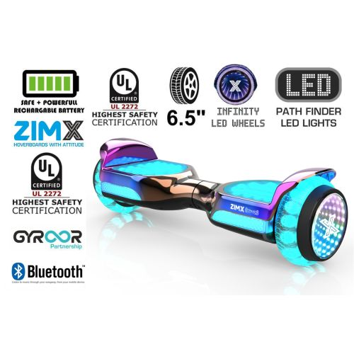 Rose Blend Self Balancing Scooter Hoverboard Swegway with Bluetooth and INFINITY LED Tyres & Wheels + LED Foot Pads UL2272 Certified