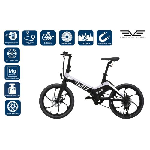 S9 EVE Black and White Combo Commuter EBike