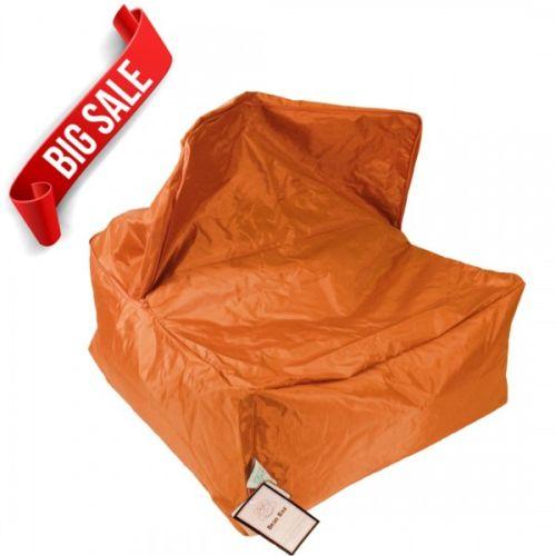 Orange Transforming Bean Bag Chair