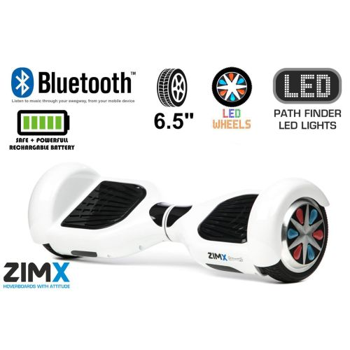 White Hoverboard Swegway Segway Bluetooth LED Wheels